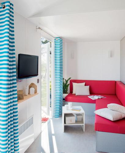 Camping Le Rochelongue : 784 2ch Salon