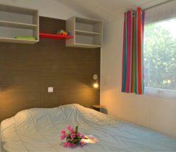 Camping Le Rochelongue : Slaapkamer stac Confort