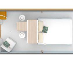 Plan intérieur mobil-home