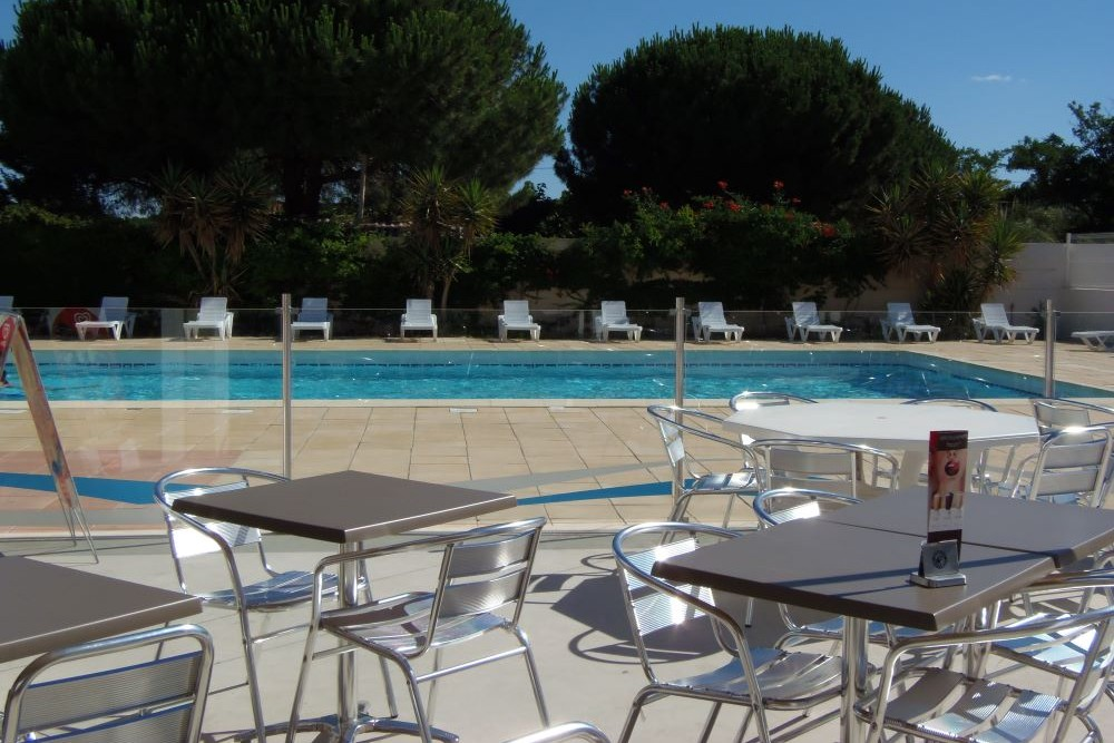 Camping Le Rochelongue : Terrasse